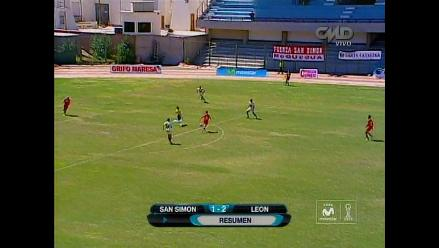 León de Huánuco vence de visita 2-1 a San Simón y se acerca a la punta