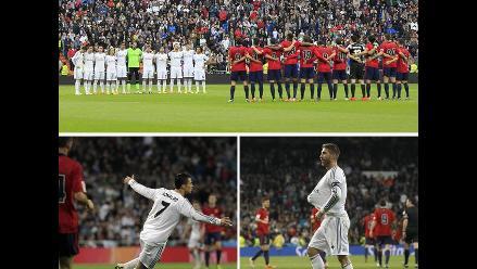 Revive en imágenes la goleada de Real Madrid al Osasuna por la Liga