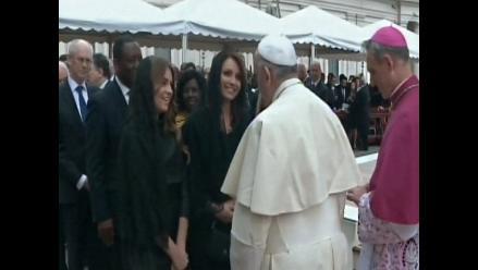 Angélica Rivera asistió a la canonización en representación de México
