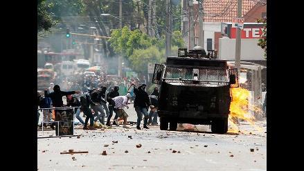 Estudiantes causan disturbios en apoyo al paro agrario en Colombia