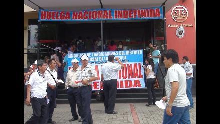 Lambayeque: trabajadores judiciales cumplen 36 días en huelga
