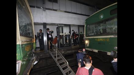 Choque de dos trenes en Seúl deja 238 heridos