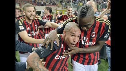 AC Milan ganó a Inter el clásico y se aferra a la Europa League