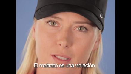 Maria Sharapova y Serena Williams unidas contra la violencia de género