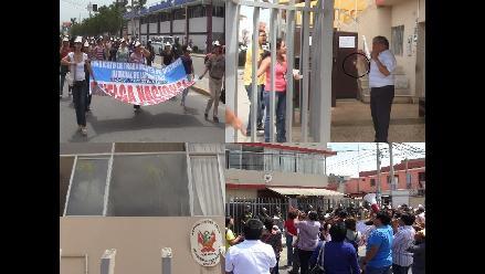 Chiclayo: judiciales lanzan huevos al cumplir 42 días en huelga