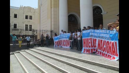 PNP desalojó a trabajadores judiciales de Catedral de Chiclayo