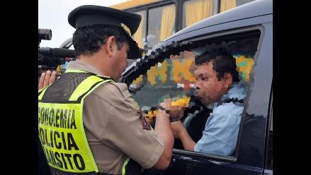 Chiclayo: cancelan licencias a 100 choferes por manejar ebrios