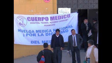 Huancayo: médicos y asistenciales ratifican inicio de huelga