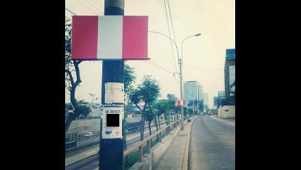 Arequipa: retiran publicidad electoral de postes eléctricos
