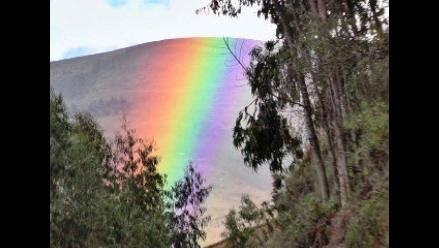 La Libertad: hermoso arco iris sorprende a pobladores de Tayabamba