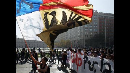 Primera marcha de estudiantil durante gobierno de Michelle Bachelet