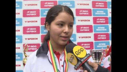 Mitzy Caballero contenta por lograr Sudamericano Sub 20 a los 13 años