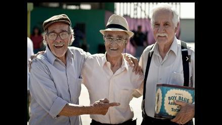 Ricardo Blume, Carlos Gassols y Enrique Victoria juntos en Viejos Amigos