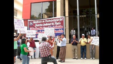 Piura: judiciales anuncian que no levantarán huelga indefinida