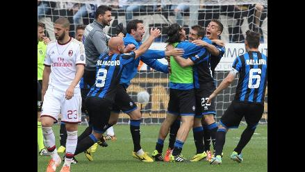 Atalanta derrota 2-1 al AC Milan por la penúltima fecha de la Serie A