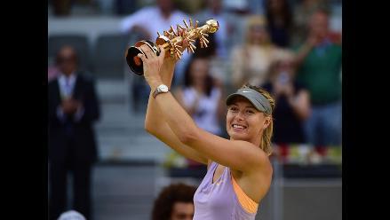 Sharapova vence a Halep en la final y se corona en el Masters de Madrid
