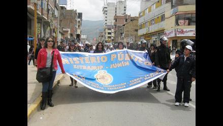 Huancayo: trabajadores del Ministerio Público suspende paro de 72 horas