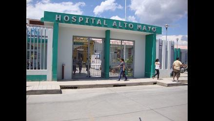 Moyobamba: médicos realizan plantón en el frontis de EsSalud Alto Mayo