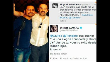 Javier Cámara felicita el éxito de la película