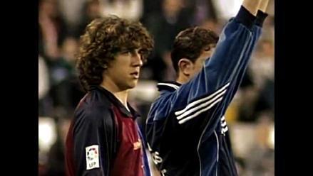 Carles Puyol y el día en el que debutó con el Barcelona