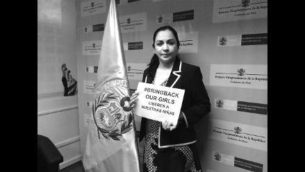 Vicepresidenta Espinoza se une a campaña para liberar a niñas nigerianas