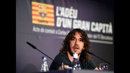 Carles Puyol se despide del Barcelona y del fútbol profesional