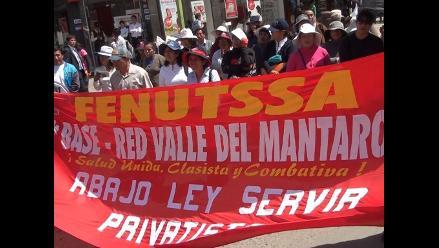 Huancayo: asistenciales niegan haber suspendido huelga indefinida