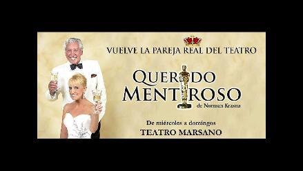 Regina Alcóver y Osvaldo Cattone vuelven con Querido mentiroso