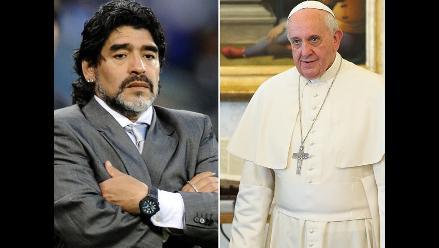 Diego Maradona le dice al Papa: Yo creo en vos, Francisquito