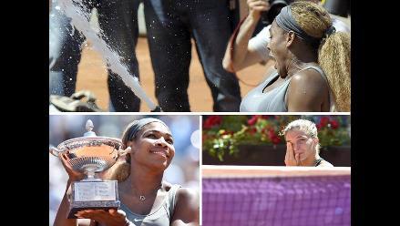 Así fue en triunfo de Serena Williams ante Errani en el Abierto de Roma