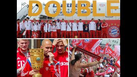 Así celebró Bayern Munich el título de la Copa Alemana con sus hinchas