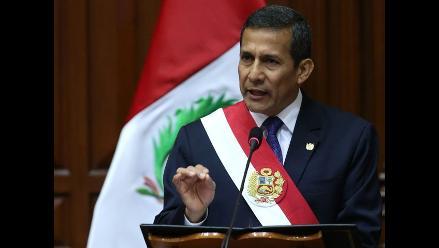 Ollanta Humala pide a regiones sacudirse de corrupción
