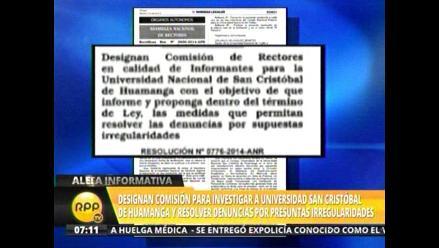 Designan comisión para investigar a Universidad San Cristóbal de Huamanga