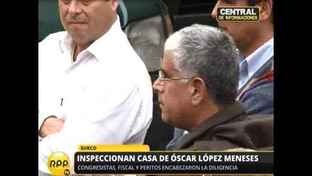 Comisión del Congreso culminó inspección a vivienda de López Meneses