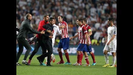Champions League: Simeone encaró a Varane y la final casi termina en pelea