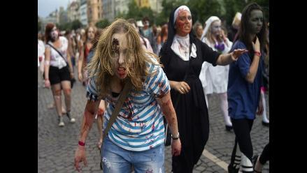 Los zombis invaden la ciudad de Praga en República Checa