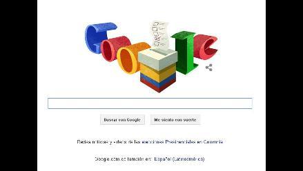 Google dedica su doodle a las elecciones colombianas
