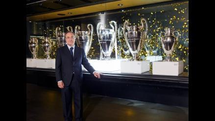 Trofeo de la Champions League ya descansa en el Santiago Benabéu