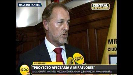 Alcalde de Miraflores: Norma sobre Costa Verde es confiscatoria