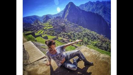 Alejandra Guzmán disfruta a lo grande de Machu Picchu