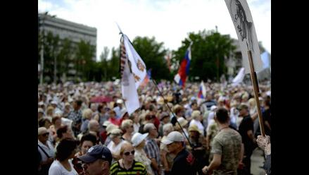 Conflicto en Ucrania: Mineros de Donetsk en huelga por combates