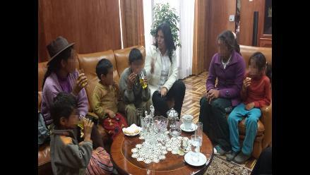 Mujer y sus hijos secuestrados por Sendero Luminoso llegaron a Huancayo