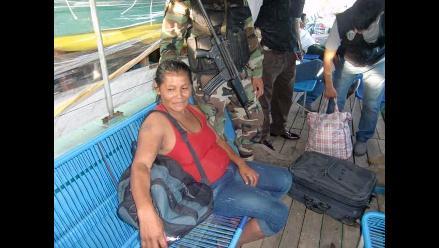 Iquitos: detienen a mujer con PBC en el interior de un bote fluvial