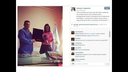 Larissa Riquelme recibió joya de esmeraldas de alcalde del Callao