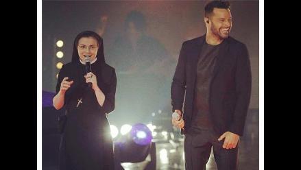 Sor Cristina armó la fiesta con Ricky Martin