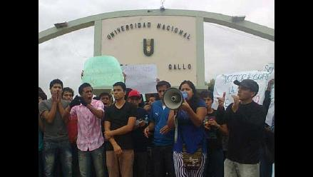 Lambayeque: Universitarios con protesta exigen liberación de compañeros