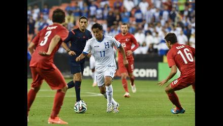 Honduras cayó 0-2 ante Turquía en duelo amistoso para Brasil 2014