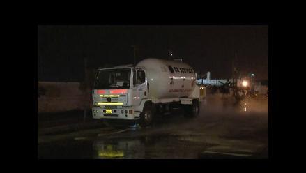 Fuga de gas generó el cierre de la vía de ingreso a Arequipa