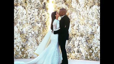 Kim Kardashian bate récord en Instagram con foto de su boda