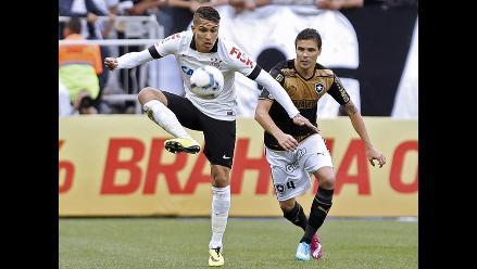 Corinthians con Paolo Guerrero empató 1-1 con Botafogo por el Brasileirao